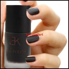 15ml-Black-Matte-Dull-Nail-Art-Polish-Varnish-Enamel-HOT
