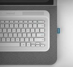 Mood Laptop Concept with customizable integrated sleeve that also helps to protect while on the go. #laptop #YankoDesign