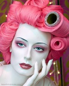 hair pinned with Bazaart
