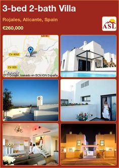 3-bed 2-bath Villa in Rojales, Alicante, Spain ►€260,000 #PropertyForSaleInSpain