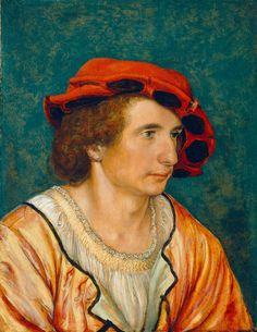 .:. Portrait of a Young Man  by Hans Holbein the Younger