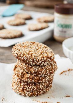 Spiced Honey Tahini Cookies - Dishing Up the Dirt