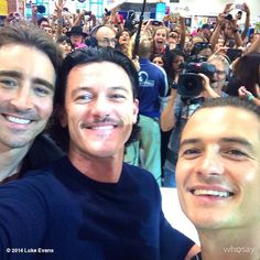 Lee Pace, Orlando Bloom, and Luke Evans at SDCC 2014, could a better selfie exist? I don't think so.