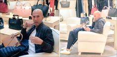 Erwischt!: Sogar Zidane muss beim Shoppen die Tasche halten: Als Trainer dirigierte Zinedine Zidane Real zu drei… #Sport #Fussball #News