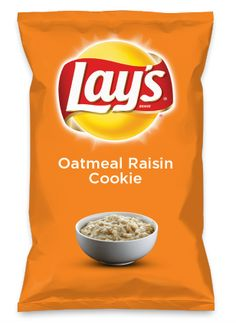 Wouldn't Oatmeal Raisin Cookie be yummy as a chip? Lay's Do Us A Flavor is back, and the search is on for the yummiest flavor idea. Create a flavor, choose a chip and you could win $1 million! https://www.dousaflavor.com See Rules.