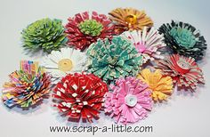 Scrapbooking, Quilled  *Flower Tutorial*