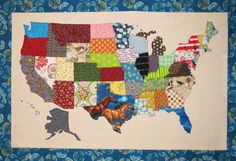 This is way too cool!!! :) And of course for families on the move you could add a special swap to all the spots you have lived on this quilt. :)