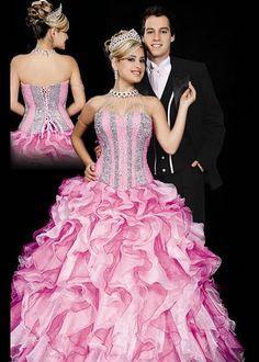 vestidos para festa de 15 anos modelo tomara que caia