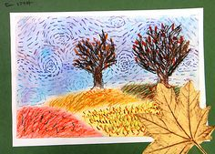 6th Grade - Van Gogh Fall Landscapes (for the love of art)