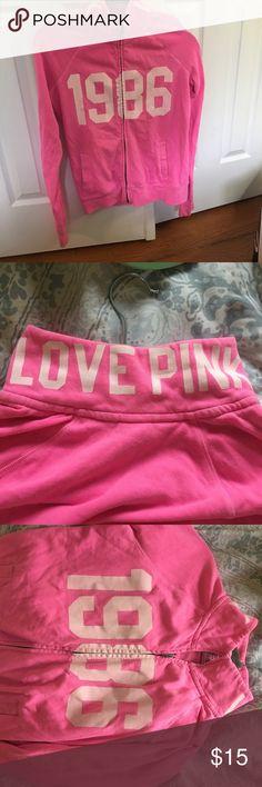 VS Pink zip up sweatshirt VS Pink sweatshirt super cute and comfy PINK Victoria's Secret Tops Sweatshirts & Hoodies