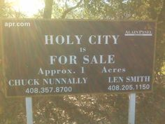 Holy City is for sale - yup, it's a real place in the Santa Cruz, CA mountains. Interested?