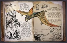 Ark: Survival Evolved Dossiers: Tapejara by DJDinoJosh on DeviantArt Jurassic World, Fantasy Creatures, Mythical Creatures, Survival Books, Survivor Quotes, The Lost World, The Good Dinosaur, Prehistoric Creatures, Book Layout