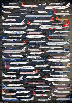 Planes Collection Aeroplane Airline Aviation Travel Art Silk Cloth Poster Home Wall Decor Aviation Forum, Civil Aviation, Aviation Art, Commercial Plane, Commercial Aircraft, Airline Logo, Passenger Aircraft, Der Bus, Military Aircraft