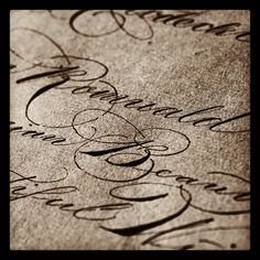 calligraphi.ca - spencerian script sketching - copperplate nib - theosone
