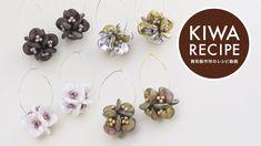beaded bead earrings using ripple beads