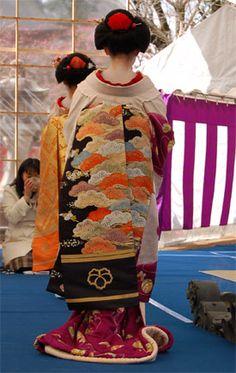 maiko  geisha  baikasai  obi