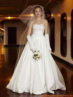2013 Ausgefallenes Brautkleid A-Linie Scoop aus Taft
