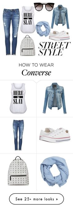 """Street style"" by edisa-sa on Polyvore featuring AG Adriano Goldschmied, Converse, LE3NO, MCM, Calvin Klein, MANGO, contestentry, nyfwstreetstyle and plus size clothing"
