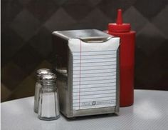 loose leaf napkins...i want some of these in my kitchen
