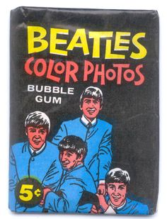 beatle bubble gum cards - COULDN'T WAIT to get the package opened!