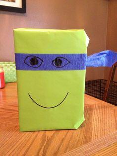 Ninja turtle lover, present wrapping ideas