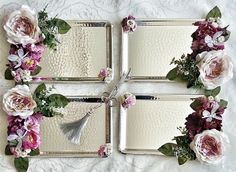 صواني تقديم Wedding Gift Wrapping, Wedding Gift Boxes, Wedding Favours, Diy Wedding, Wedding Events, Wedding Gifts, Engagement Ring Platter, Wedding Engagement, Engagement Gifts