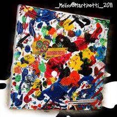 60's colors  20x20cm canvas