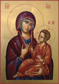 Religious Images, Religious Icons, Religious Art, Byzantine Art, Byzantine Icons, Writing Icon, Church Icon, Madonna Art, Queen Of Heaven