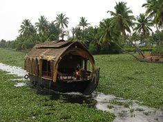 Motorized hoseboats on Kerala backwaters, India. Kerala India, South India, Places Around The World, Around The Worlds, Kerala Backwaters, Wanderlust, Munnar, Floating House, Paradise On Earth