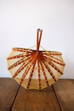Vintage foldable fishing basket #vintage #home #craft