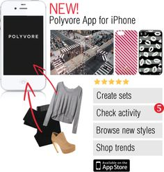 """New! Polyvore iPhone App"" by polyvore ❤ liked on Polyvore"