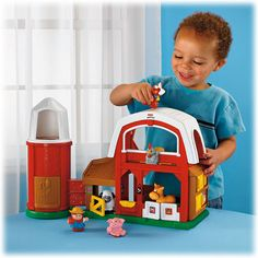 "Fisher Price Little People Animal Sounds Farm $43.00  This is a classic. So cute, durable, and lasts through the ages. Marked ""1-5 years,"" it truly does entertain babies to preschoolers. My 8 month and 3 year old play with this toy together all the time."