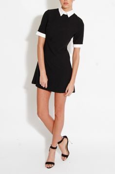 Cute, collared shift dress you can dress up or down - See more at: http://www.modamob.com/fashion-news/black-and-white-fashion-your-wardrobe-needs.html#sthash.ZJVBfJUo.dpuf
