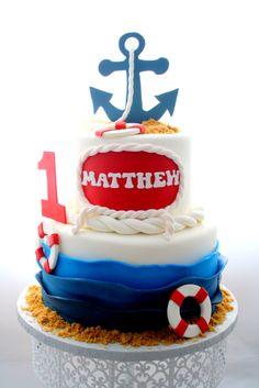 Nautical Cake Carla's Cake Creations -  https://www.facebook.com/pages/Carlas-Cake-Creations/63169956713?ref=hl
