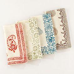 <3 these block print napkins, cost plus world market