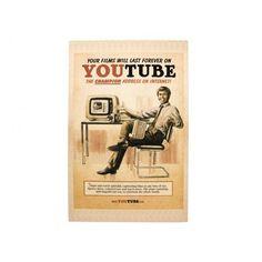 Quadro Youtube Retrô. - R$69