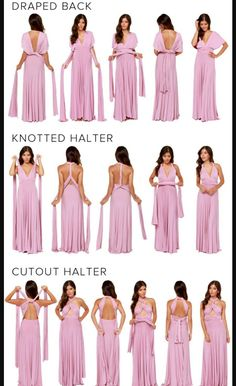 Pregnancy Dresses: Our Tricks of the Trade convertible wrap dress is the perfect dress for every oc… Infinity Dress Ways To Wear, Infinity Dress Styles, Infinity Dress Bridesmaid, Infinity Dress Tutorial, Wrap Bridesmaid Dresses, Bridesmaid Dresses Australia, Infinity Gown, Bridesmaids, Women's Dresses