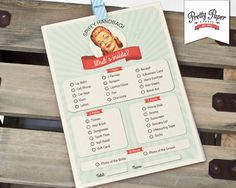 What's in Your Purse - 50s Housewife Bridal Shower Game Cards // INSTANT DOWNLOAD // 1950s Retro Bridal Shower Game // Printable Digital by ThePrettyPaperStudio, $7.00