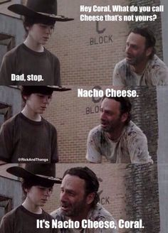 The walking dead Walking Dead Funny, Walking Dad Jokes, Walking Dead Coral, Walking Dead Quotes, The Walking Dad, Walking Dead Zombies, Twd Memes, Funny Memes, Funny Shit