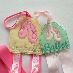 Ballet Slipper Clip KeeperBow Holder by AKAApplique on Etsy, $4.00