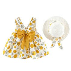 Toddler Baby Kids Girl Sleeveless Strap Dot Print Bow Princess Dress+Hat Outfits | eBay Casual Dress Outfits, Outfits With Hats, Casual Summer Dresses, Kids Outfits, Island Outfit, Famous Brand Shoes, Sleeveless Outfit, Cute Hats, Dress Hats