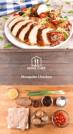 "Mesquite is a tree species native to Mexico and the American Southwest. When smoked, the wood imparts a distinctive sweetness and aroma to foods. Capture that essence with this tangy spiced chicken breast served alongside ""loaded"" potato wedges. This is a low-calorie meal that'll definitely light your fire."