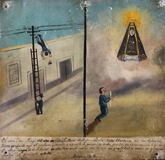 Mexican miracle painting