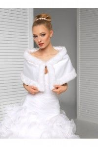 cape chle tole bolro de mariage poncho fausse fourrure accessoires de la marie - Bolero Plume Mariage