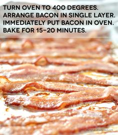 The easiest way to make bacon - in the oven! So simple and tastes amazing. www.thirtyhandmadedays.com