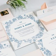 "77 Likes, 3 Comments - Carissimo Letterpress (@carissimo_letterpress) on Instagram: ""Antique botanic illustrations and modern Sansserif typefaces make this semi custom suite romantic…"""
