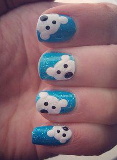 Polar Bear Nails winter nails - http://amzn.to/2iZnRSz