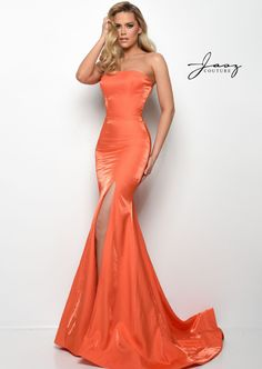 Glamour & Gloss Fashion — formalapproach: so sleek. Shop this look... Orange Formal Dresses, Orange Dress, Prom Dress Stores, Prom Dresses Online, Couture Dresses, Fashion Dresses, Designer Prom Dresses, Perfect Prom Dress, Pageant Dresses