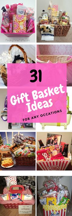 Love these tips for creating the perfect gift baskets, great ideas for ways to make a cute gift basket for inexpensive with great examples. - 31 gift basket ideas www.istikharawazifa.com