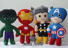 Precisando de super poderes?  Aqui no ateliê desenvolvemos alguns...  Quais são os seus?! Minú Ateliê   #minuatelie #superpoderes #herois #hulk #capitaoamerica #thor #homemdeferro #festainfantil #festaherois #festamenino #minuatelie #feltro #felt #feltrosantafe #kidsparty #festasuperhero #superhero #osvingadores #avengers #captainAmerica #IronMan